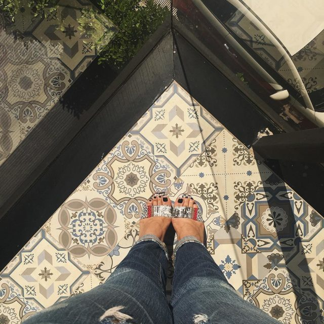 Loving how they blend with the tiles ottyliashoes